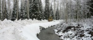 Plowing the lower ditch. May 8, 2013